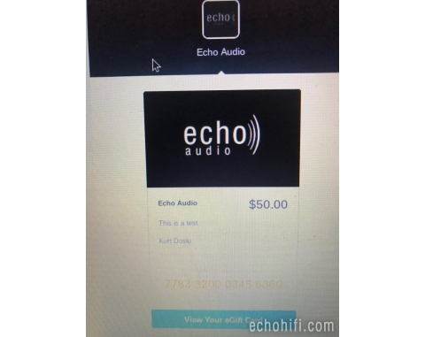 Echo Audio Gift Certificates!